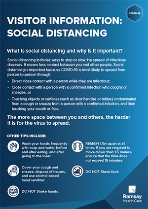 Visitor Information: Social Distancing